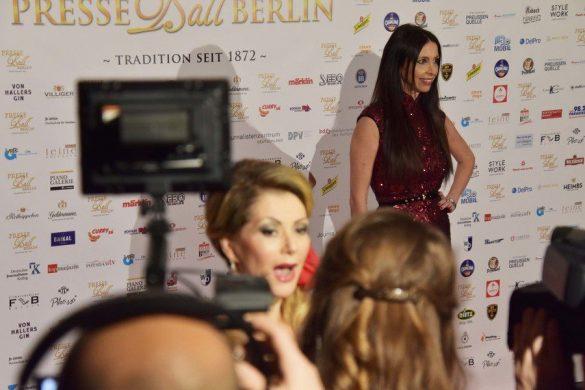 INTERNATIONAL STAR LORENA BARICALLA, GUEST OF HONOR AT THE PRESSEBALL BERLIN