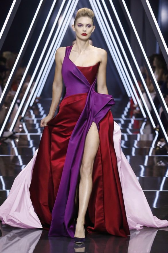 SUI HE AND TONI GARRN WEAR RALPH & RUSSO COUTURE