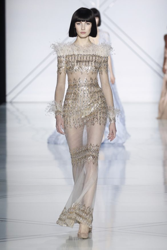 HAILEY CLAUSON WEARS RALPH & RUSSO COUTURE TO THE  2019
