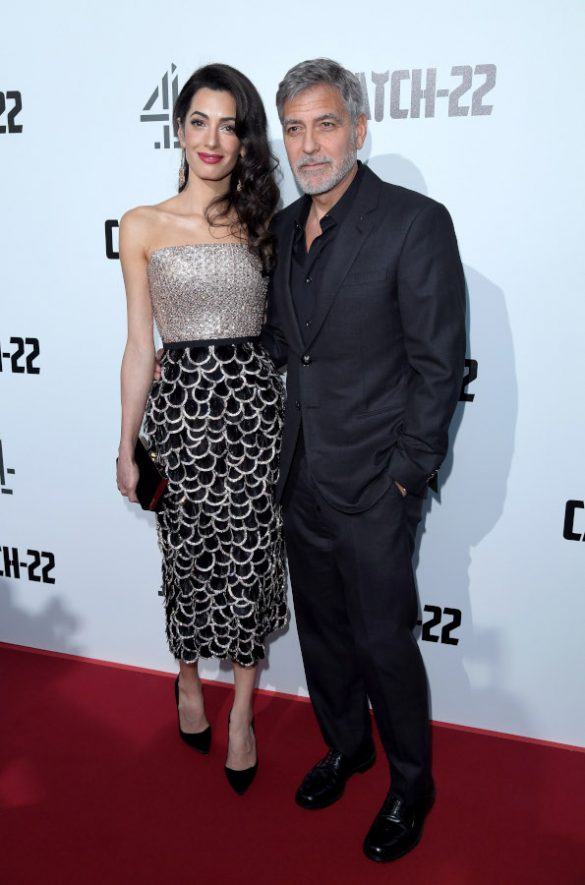 AMAL CLOONEY WEARS RALPH & RUSSO COUTURE TO THE UK PREMIERE OF CATCH-22