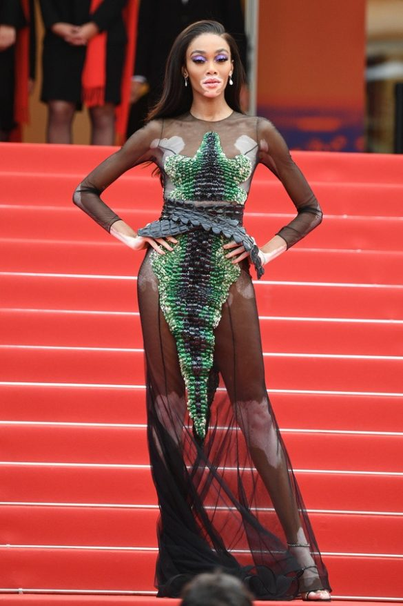 WINNIE HARLOW WEARS RALPH & RUSSO TO THE 2019 CANNES FILM FESTIVAL